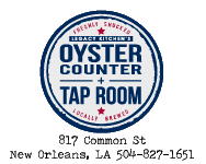 Oyster Counter And Tap Room New Orleans Menu